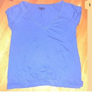 American Eagle Outfitters Women's Blue Shirt L